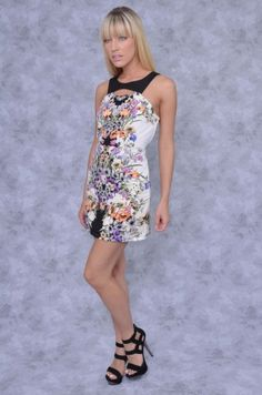 Floral Cutout Sleeveless Dress - Clothes | Maria Morena Wholesale