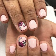 Simple fall florals . . . . #nails #gelnails #nailstagram #naturalnails #gelpolish #fall #fallnails #floralnails #nailart #handpaintednailart #orem #oremnails #utah #utahnails #utahcountynails #utahnailtech #solaorem #solasalon