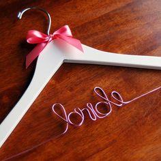 Pink Wire Bridal Hanger ♥ Wedding Hanger