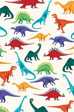 dinosaurs pattern print colors dinosaurios patron estampado colores
