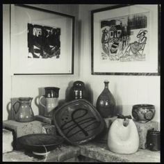 Barry Brickell pottery and Stewart Maclennan prints on display at Waihi Arts Centre and Museum - Museum of New Zealan. Pottery Marks, Wabi Sabi, Centre, Museum, Display, Ceramics, Studio, Prints, Art