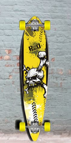 eadb04709a5b4 Longboards USA - Skull Pintail Longboard 40 inch from Punked - Complete