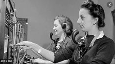 Source: Photograph Date: circa These people were operating the phones in Canada and were looking that everyone got connected with the right person. Hello Ladies, Say Hello, Telephone, The One, Canada, 1920s, Sayings, Lady, People
