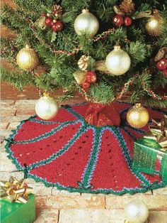 Crimson Tree Skirt