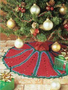 Free crochet pattern--Crimson Tree Skirt
