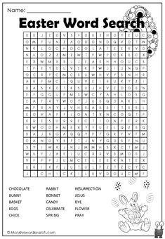 cool Easter Word Search