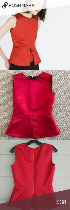 🎉HP🎉 Zara beautiful top like new This is your chance I am cleaning out my closet and adding new items every few hours. This is a beautiful top that I bought on Poshmark from one of my favorite closets. Used it ones for a function. Zara Tops Blouses