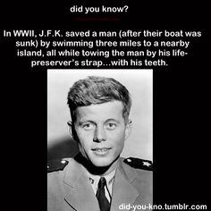 Because JFK was awesome :)