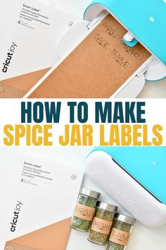 Learn how to use Smart Label with your Cricut Joy to make spice jar labels!