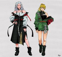 Noi and Nikaido Chicano, Character Concept, Character Art, Concept Art, Anime Manga, Anime Art, Divas, Female Armor, Witch Art