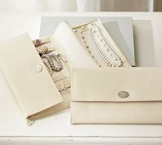 McKenna Leather Travel Jewelry Portfolio #potterybarn