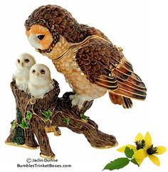 Trinket Boxes- Owl And Babies