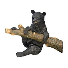 Design Toscano Up A Tree Hanging Bear Cub Statue