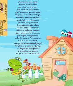 Poemas y rimas infantiles de la primavera para niños Poetry For Kids, Spanish Songs, Teaching Poetry, Poetry Poem, Spanish Classroom, Easter Activities, Spring Art, Parents As Teachers, School Life