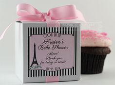 PARISIAN BABY SHOWER...One Dozen Personalized by FavorBoxBakery, $40.00