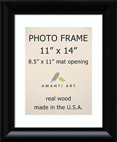 picture frame 11x14 matted to 85x11 steinway black wood outer size 14 x 17 read