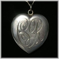 Beautiful silver antique heart.