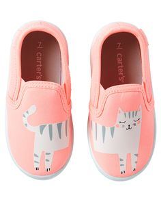 Toddler Girl Carter's Kitty Slip-On Shoes | Carters.com