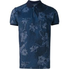 Etro floral print polo shirt ($460) ❤ liked on Polyvore featuring men's fashion, men's clothing, men's shirts, men's polos, blue, mens floral print shirts, mens floral polo shirts, etro men's shirts, mens blue polo shirts and mens blue floral shirt