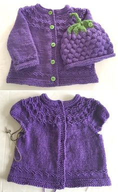 Photo above © beaumerstitcher This knit pattern / tutorial is available for free. Baby Cardigan Knitting Pattern Free, Baby Knitting Patterns, Knitting Designs, Knitting For Kids, Knitting For Beginners, Free Knitting, Knitting Hats, Layette Pattern, Baby Girl Patterns