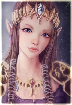 Princess Zelda by *S1ghtly on deviantART