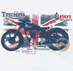 Triumph Motorcycle -                                                              Triumph Motorcycles by 4th Avenue Graphics , via Behance