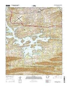 ~ Hot Springs South AR topo map, 1:24000 scale, 7.5 X 7.5 Minute, Current, 2014