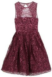 ALICE + OLIVIA Plum Ophelia Sleeveless Lace Top Fitted Dress