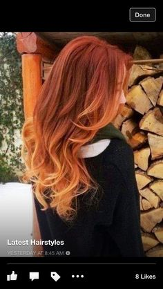 Copper red with light copper blonde ombré .... Beautiful!