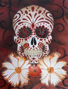 Sugar Skull Stencil-Print1 by darcydoll on deviantART