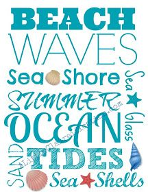 Mommy and Things: Free Beach Subway Art Printable