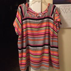 Top Cute bright orange and pink Worthington Tops