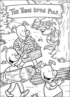 the three little pigs puppet templates - free pig coloring page from super simple learning tons of