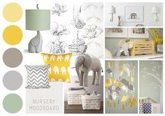 fijn kleuren pallet voor de gele kinderkamer #kinderkamer#geel#trends