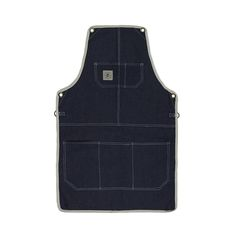 // DENIM APRON // DURABLE CLASSIC-LENGTH APRON, PERFECT FOR COVERAGE FROM CHEST TO MID THIGH...