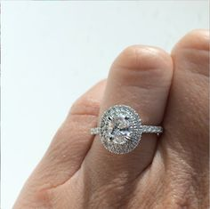 We are so obsessed with this double halo oval diamond engagement ring! IT'S PERFECT!!