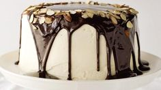 When you're celebrating a grown-up occasion, you deserve a grown-up cake. This beautiful creation uses Betty Crocker SuperMoist devil's food cake mix, pudding and Irish liqueur in both the cake and frosting.