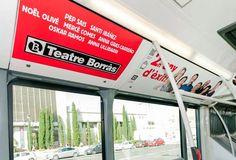 Publicidad interactiva en autobús de la campaña Teatro Borrás , con la Realidad Aumentada gracias a la app Holaapp.