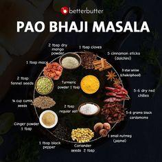 Pav Bhaji recipe by Sanjula Thangkhiew at BetterButter Masala Powder Recipe, Masala Recipe, Homemade Spices, Homemade Seasonings, Pav Bhaji Masala, Bhaji Recipe, Tandoori Masala, Indian Dessert Recipes, Indian Recipes