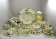 Burleigh dinner service, Zenith design in Primrose pattern. Includes unusual items e. toast rack and better/cheese dish.