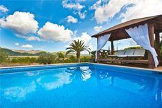 Stunning pool area in Santa Eulalia des Riu in wonderful Ibiza.