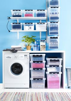 Laundry room - SmartStore Classic storage boxes
