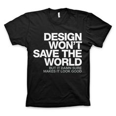 Love it! And who knows, it just might save the world :)
