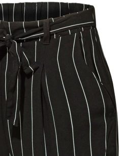 a30e009f7f673 LE3NO Womens Slim High Waisted Striped Loose Casual Long Peg Trouser Pants  (CLEARANCE)