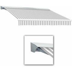 Destin-LX with Hood Right Motorized with Remote Control Retractable Awning, 16 ft.W x 10 ft.Proj, Gray