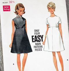 Vintage 1960s Sewing Pattern Butterick 4997 by Old2NewMemories, $7.75