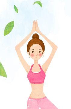 Yoga Cartoon | Tags: cartoon illustration , Yoga