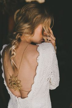 "Bohemian Gypsy Spirit, love the body necklace peeking out! Daughters Of Simone ""LOLA"" Gown"