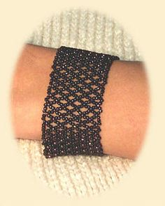 CuffBracelet with basic netting - This is a slinky, easy braclet that can be made by beginners or more advanced beaders ~ Seed Bead Tutorials