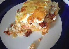 Nagyon szaftos rakott krumpli 😋 | Nikolett Juhász receptje - Cookpad receptek Lasagna, Bacon, Ethnic Recipes, Food, Essen, Meals, Yemek, Pork Belly, Lasagne